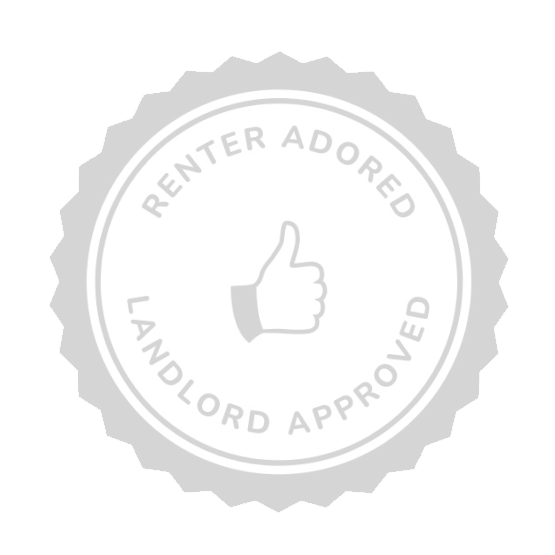 Renter adored, landlord approved badge